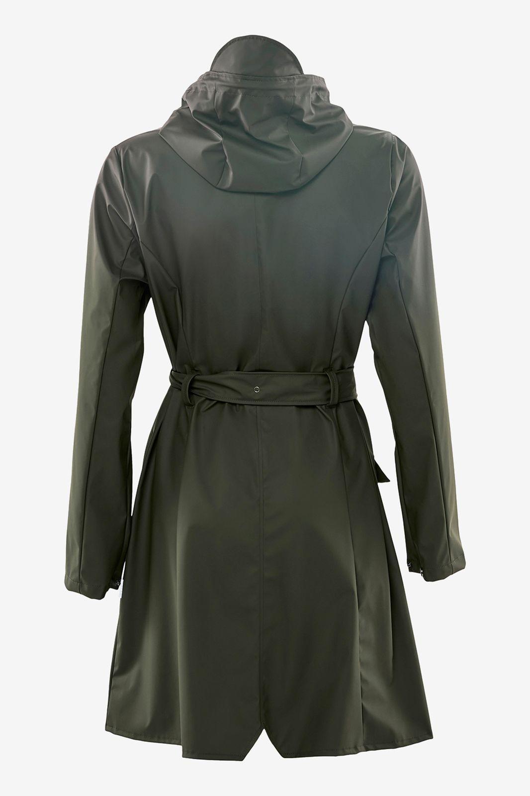 Rains curve jacket 1206 donkergroen - Dames | Sissy-Boy