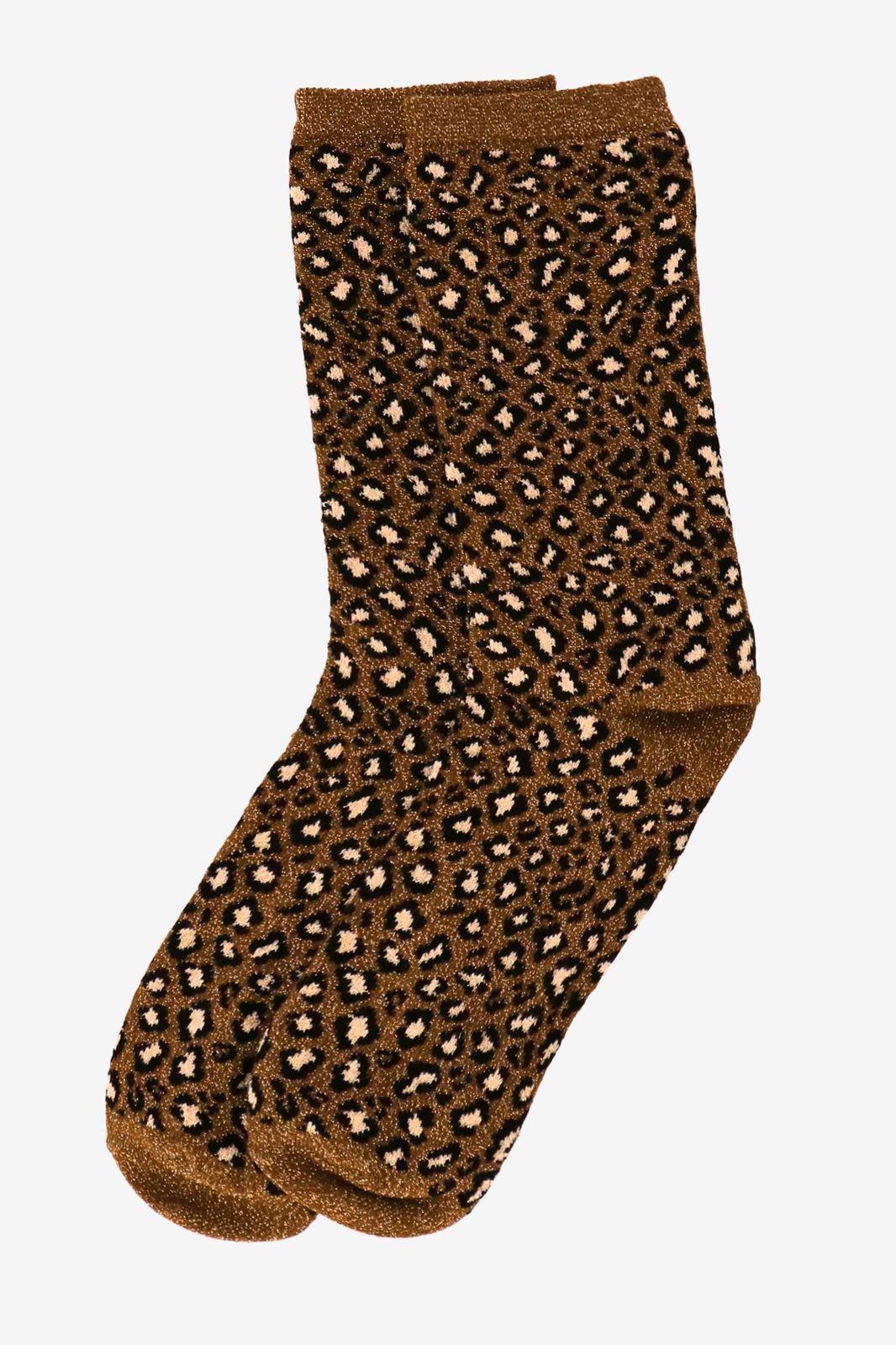 Royalties Okergele glitter sokken - Dames | Sissy-Boy