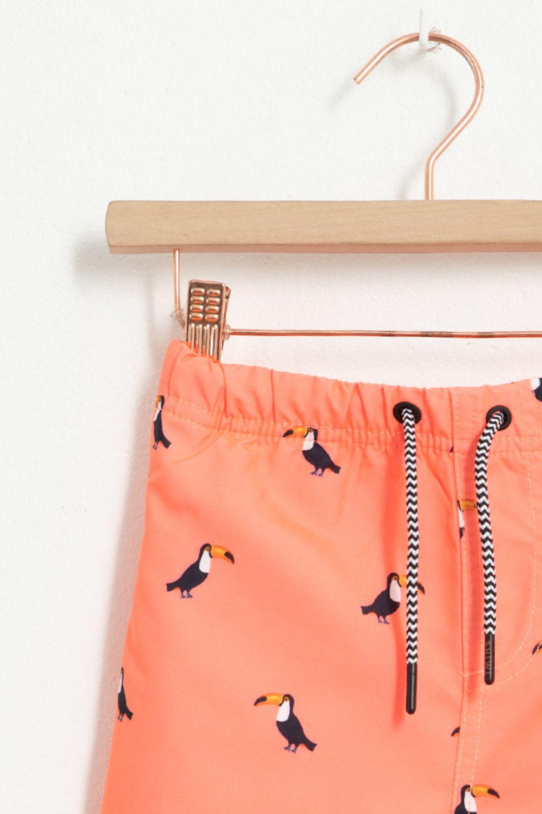 Oranje zwembroek met all over tucan print - Kids | Sissy-Boy