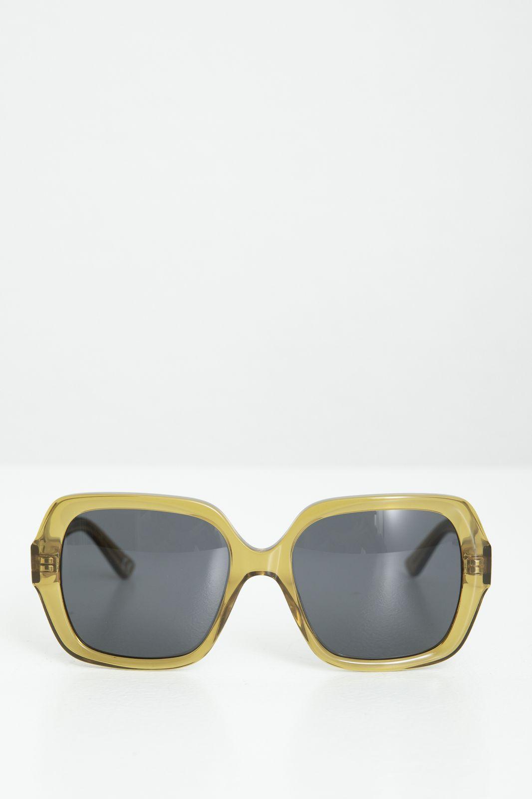 Groene zonnebril 70's vierkant - Dames   Sissy-Boy