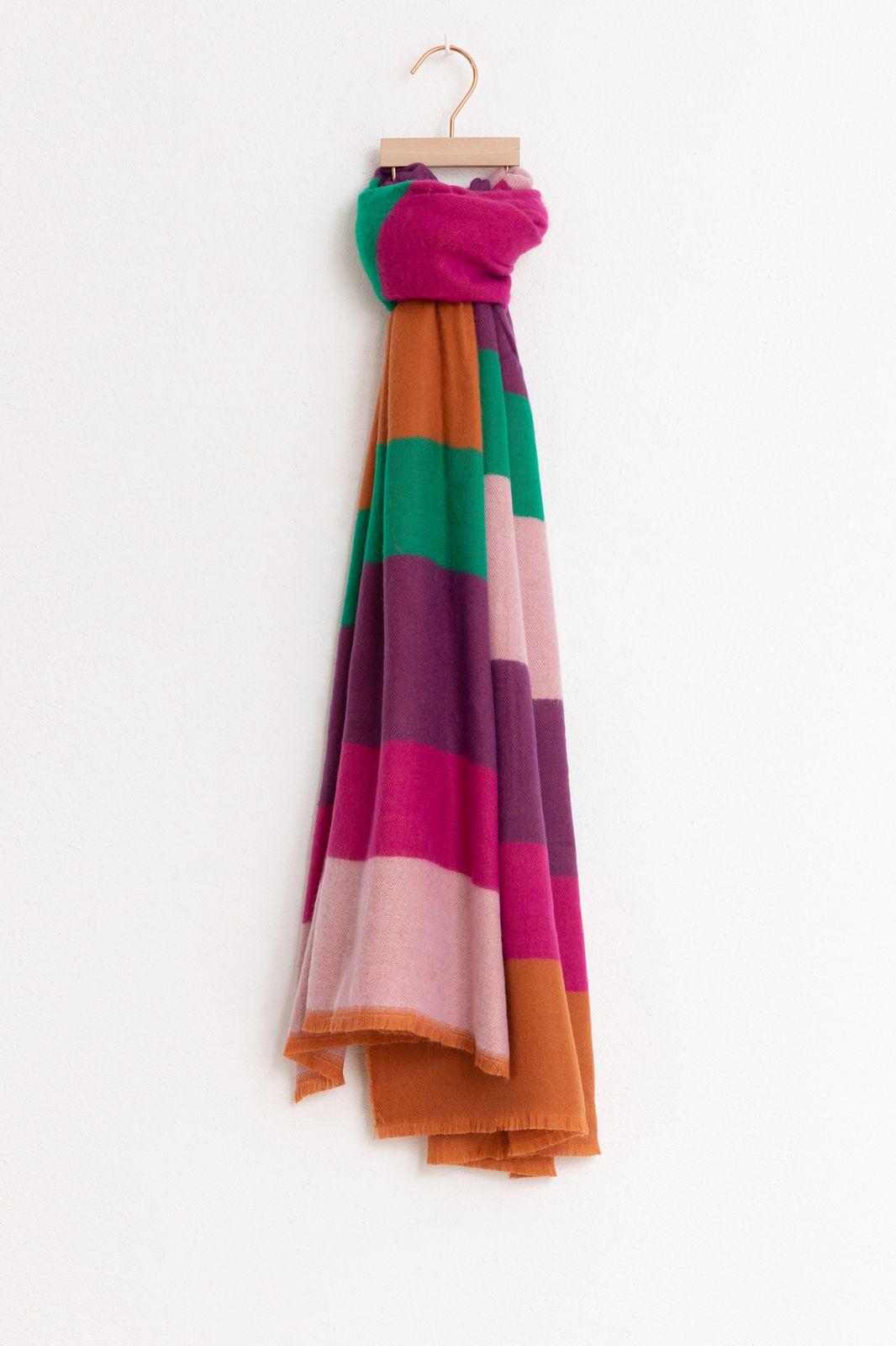 Multicolor sjaal colorblock - Dames | Sissy-Boy