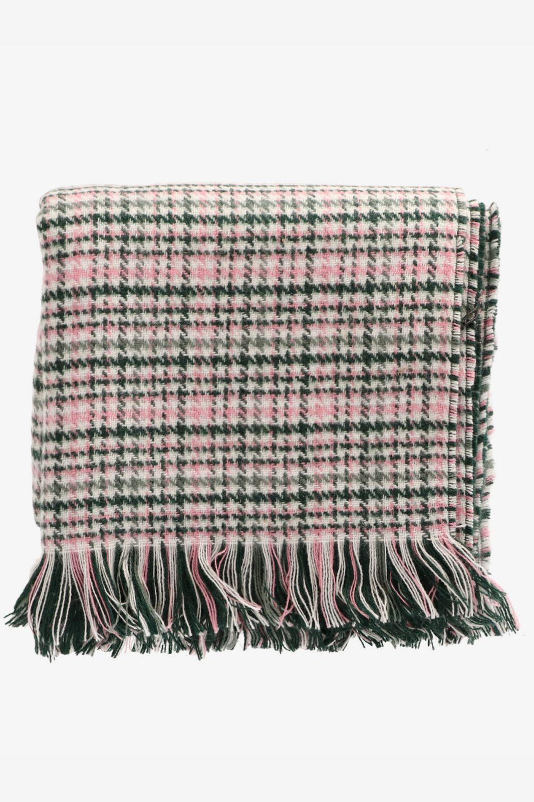 Donkergroene sjaal met ruit - Dames | Sissy-Boy