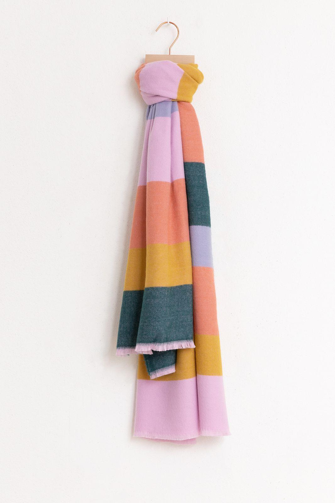 Multicolor sjaal colorblock roze - Dames | Sissy-Boy