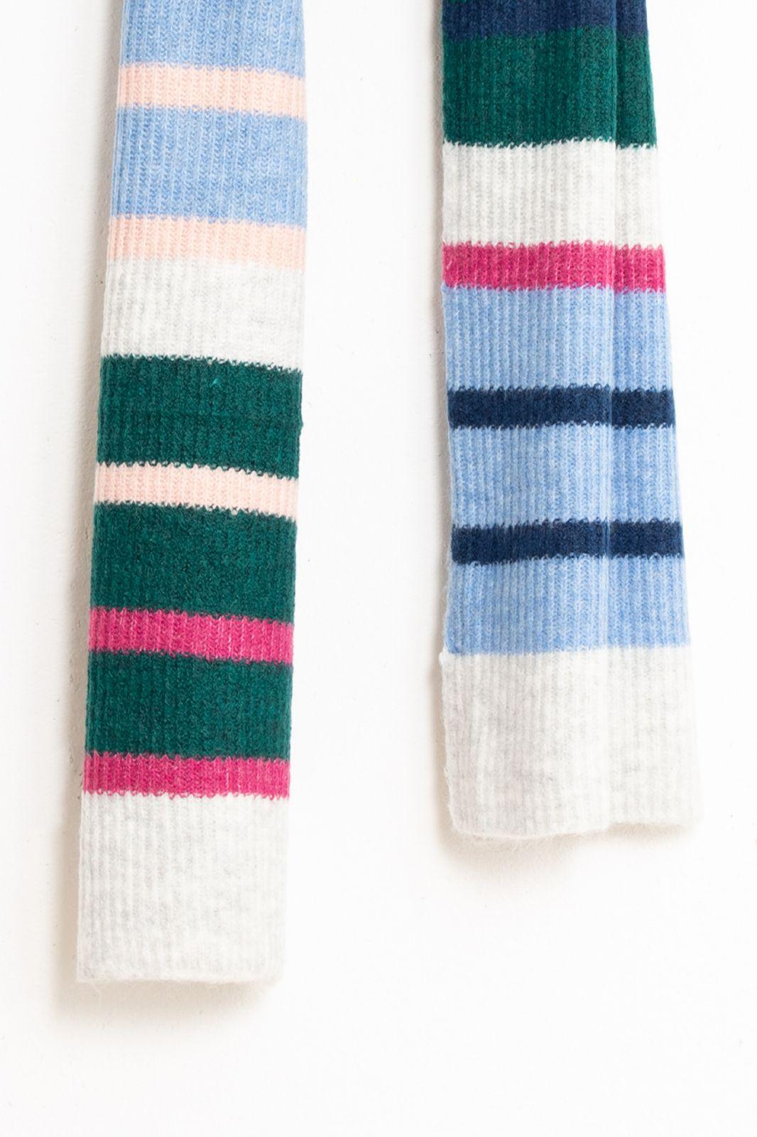 Blauwe gestreepte sjaal - Dames | Sissy-Boy