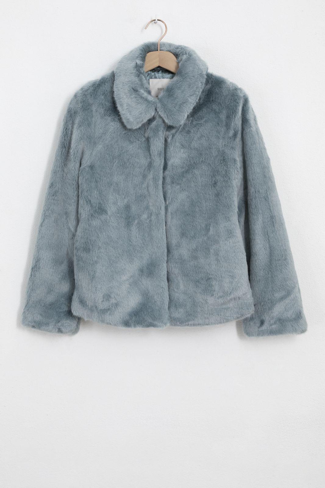 Lichtblauwe faux fur jas - Dames | Sissy-Boy