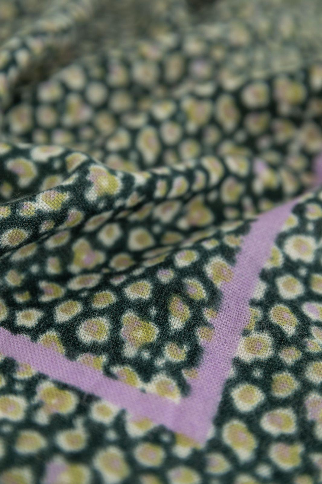 Groene sjaal met animal print - Dames | Sissy-Boy