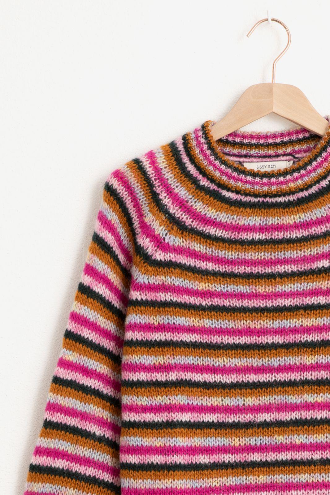 Roze gestreepte trui - Dames | Sissy-Boy