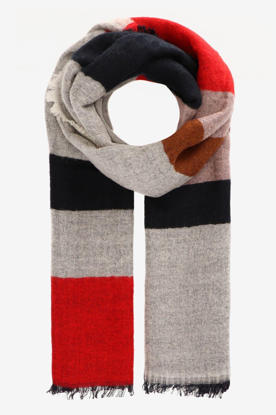 Colorblock sjaal