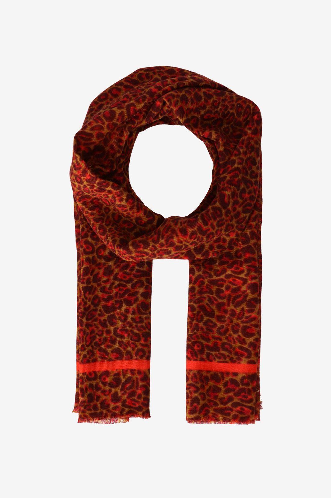 Rode sjaal met animal print - Dames   Sissy-Boy