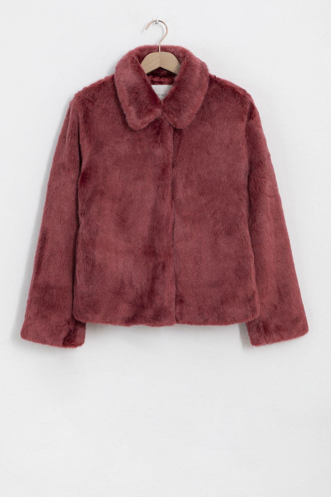 Rode faux fur jas - Dames | Sissy-Boy
