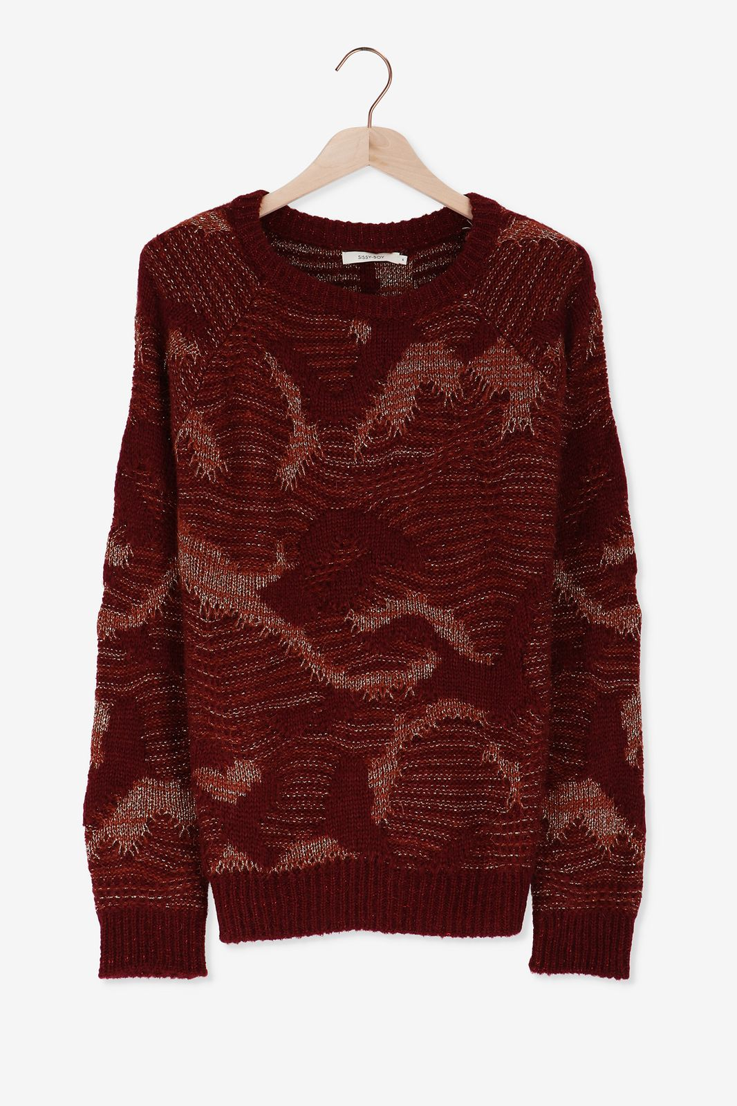 Rode trui met lurex - Dames | Sissy-Boy