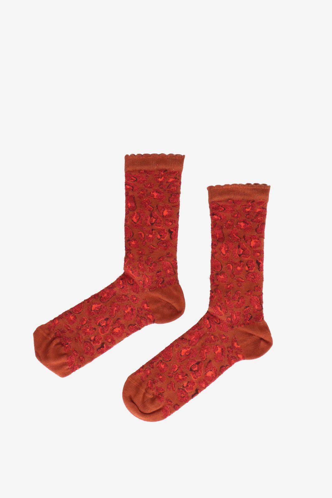 Bamboe sokken animal print rood - Dames | Sissy-Boy