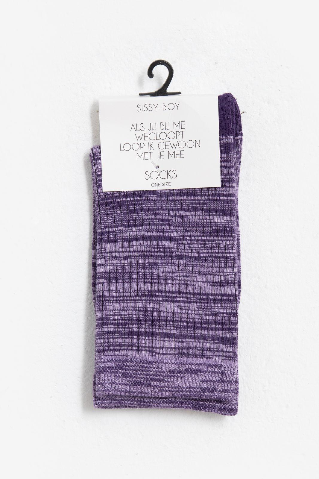 Paarse sokken space dye - Dames   Sissy-Boy