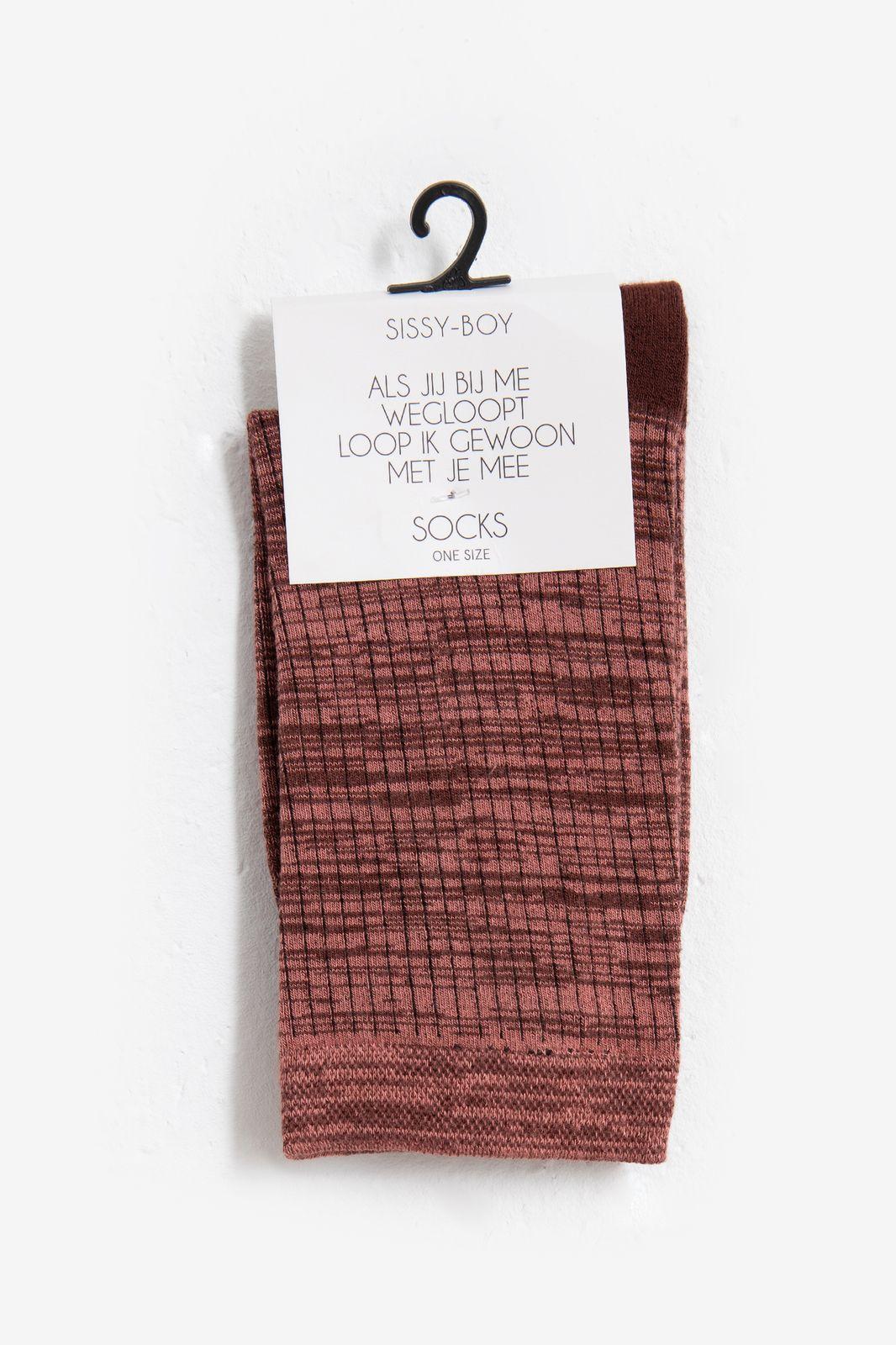 Roze sokken space dye - Dames | Sissy-Boy