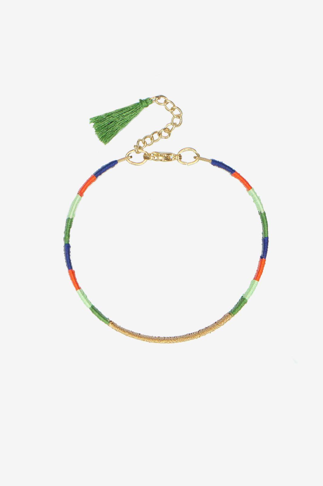 Mulicolor handmade armbandje groen/blauw - Dames | Sissy-Boy