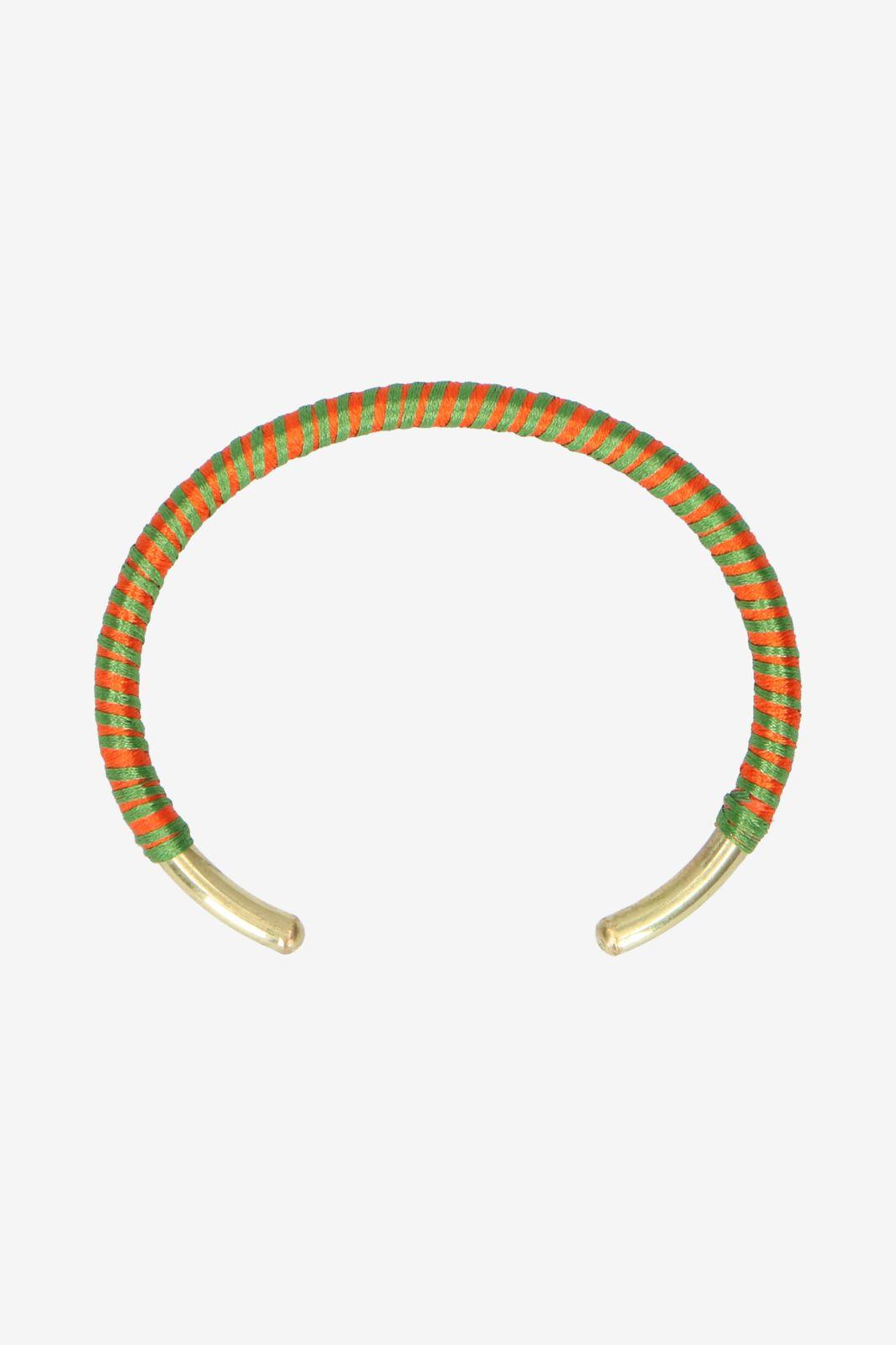 Oranje/groen handmade armbandje rond - Dames | Sissy-Boy