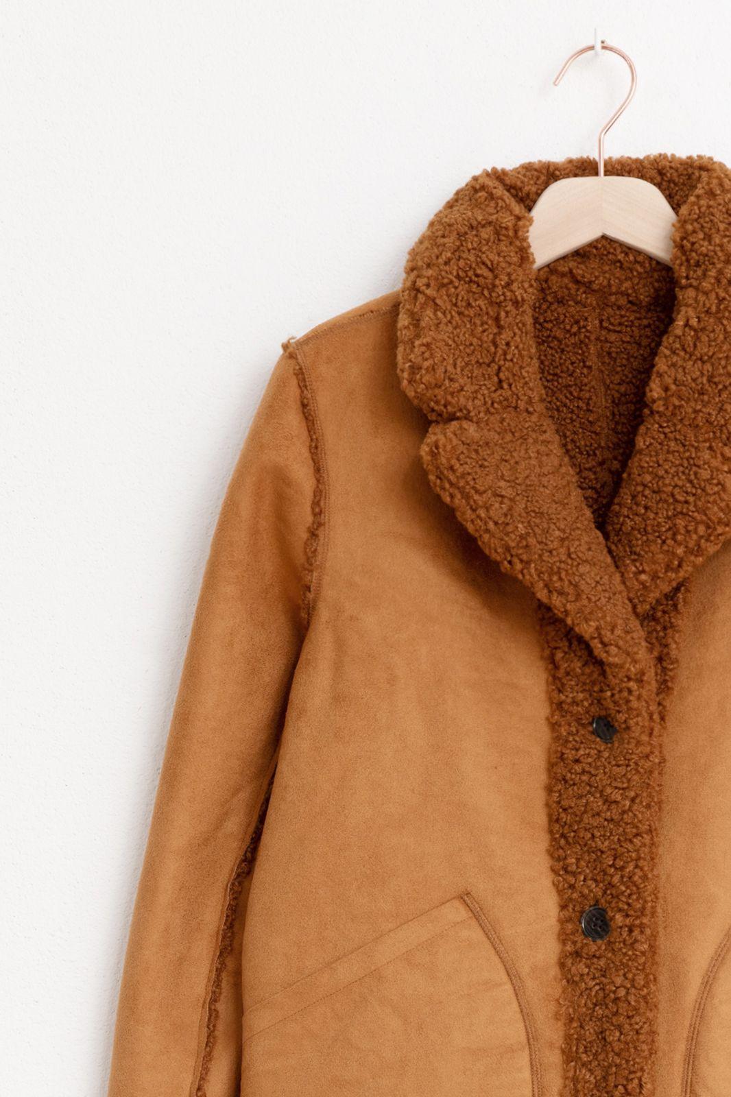 Bruine korte reversible jas - Dames | Sissy-Boy