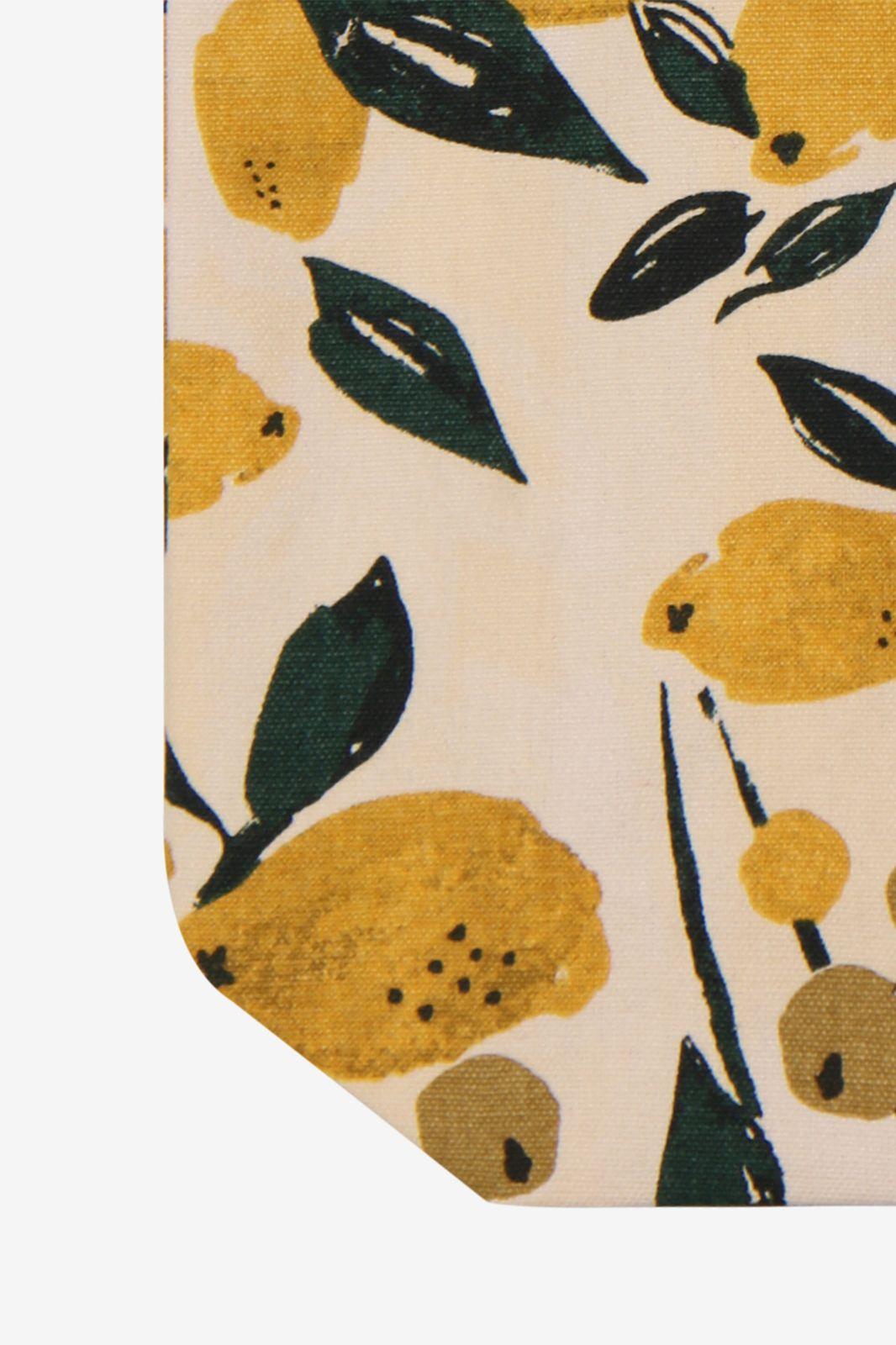 Katoenen shopper citroenen