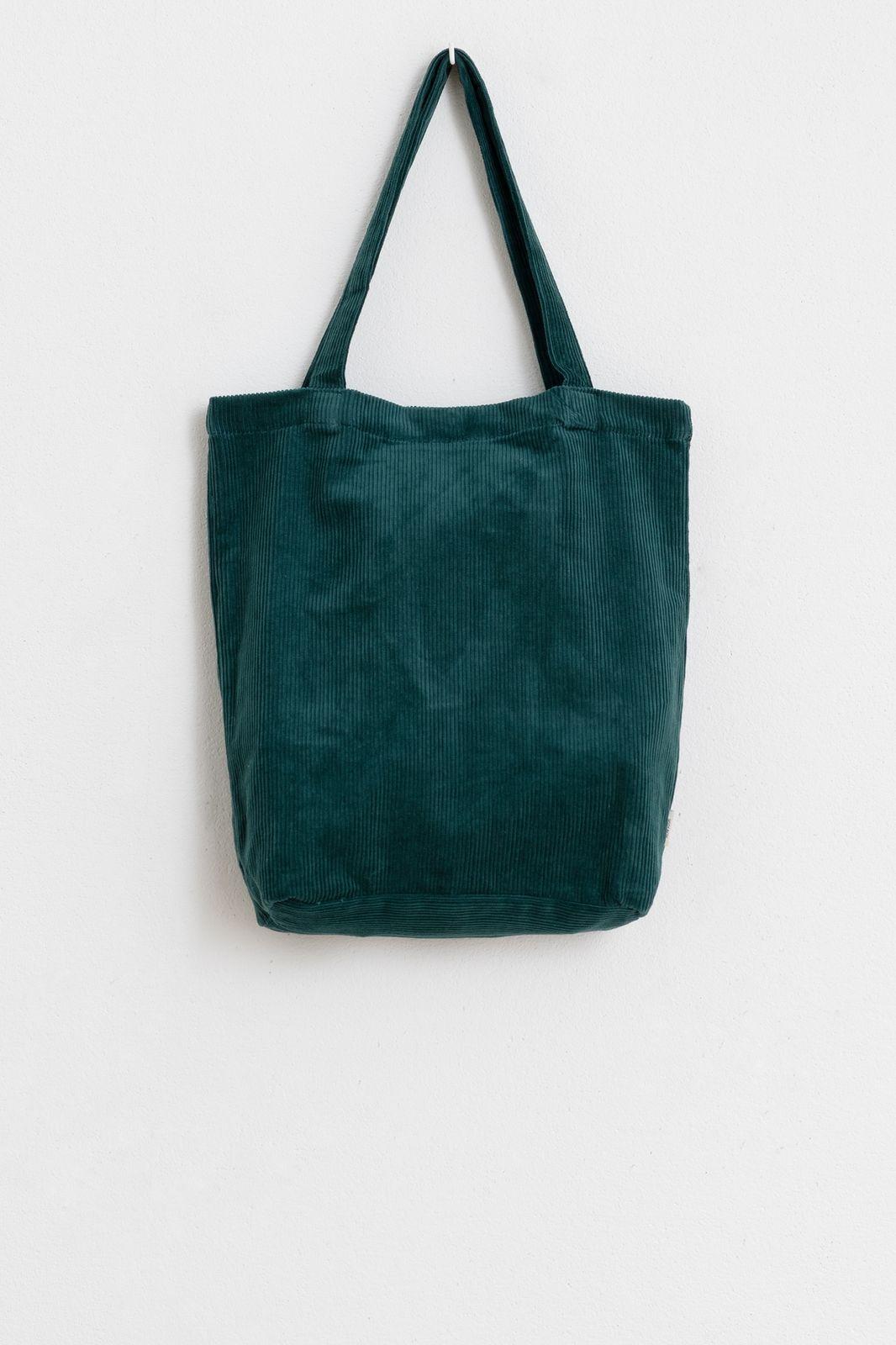 Donkergroene corduroy shopper - Dames | Sissy-Boy
