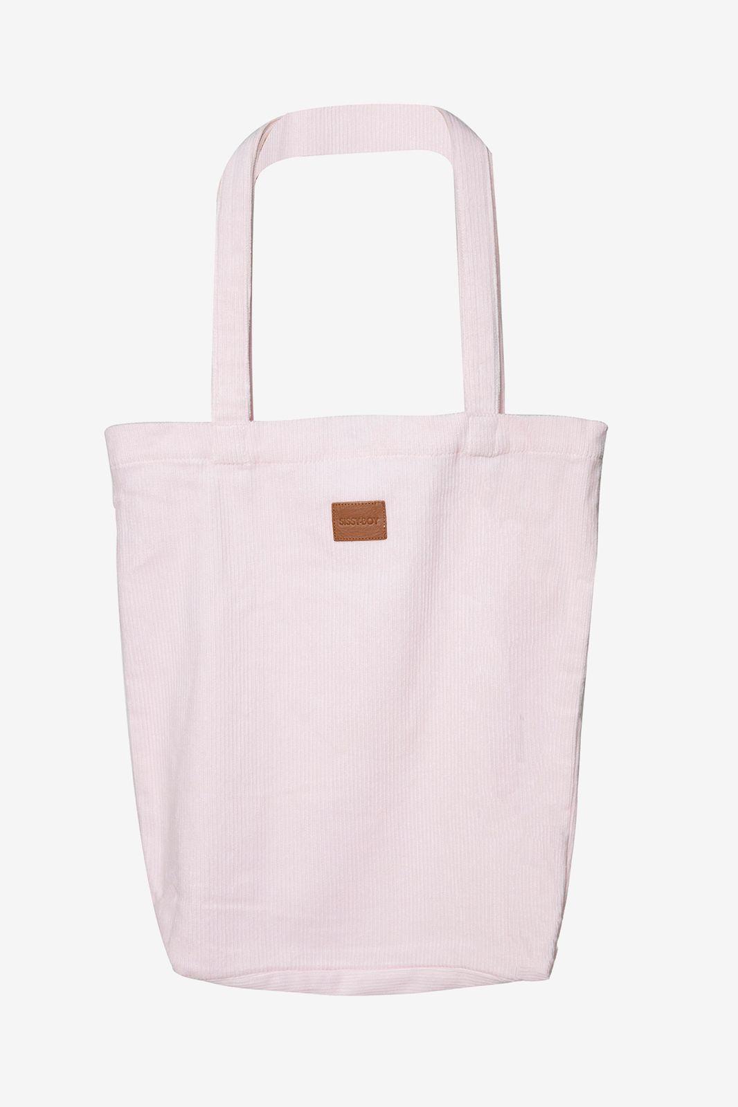 Roze corduroy shopper