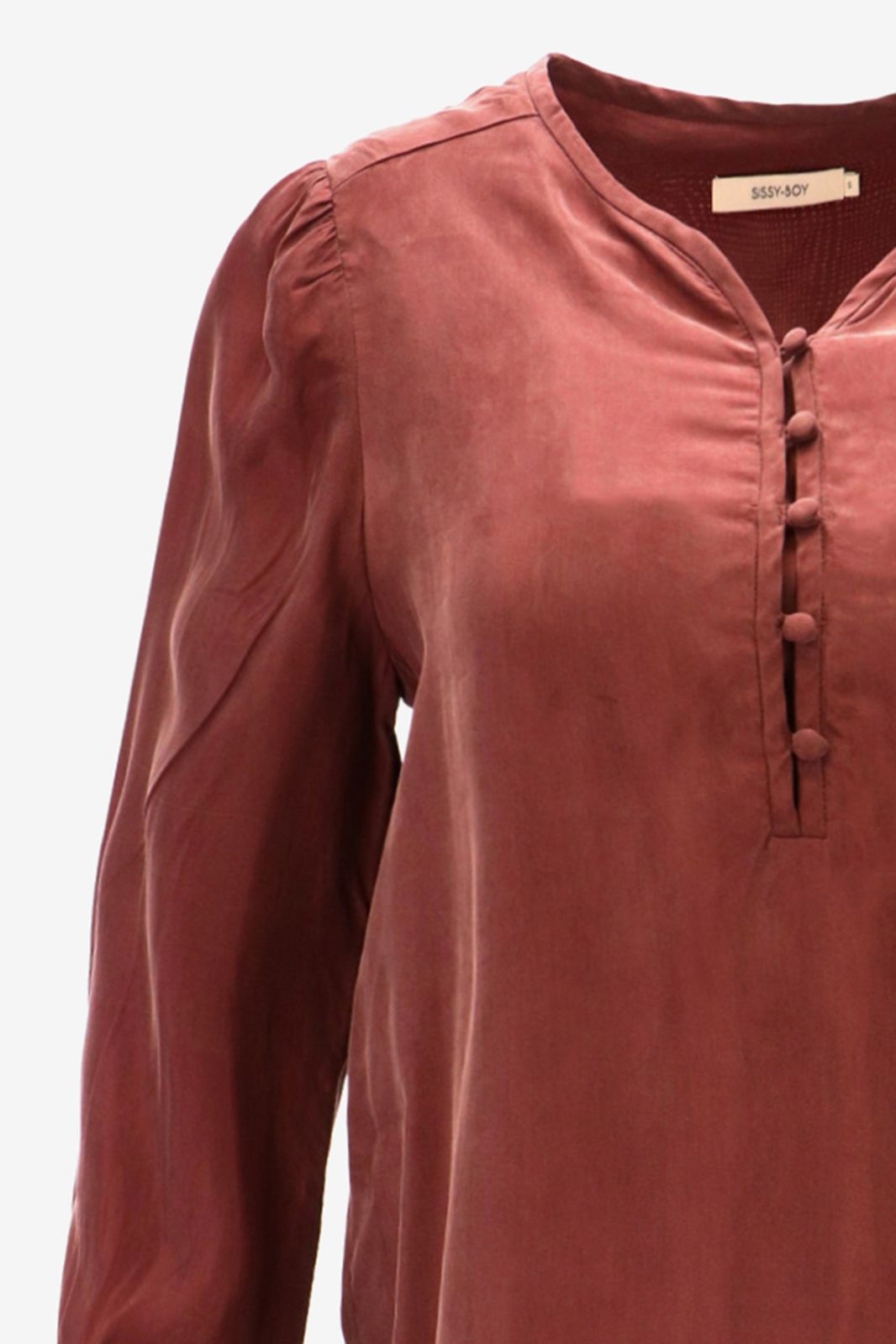 Aubergine cupro blouse - Dames | Sissy-Boy