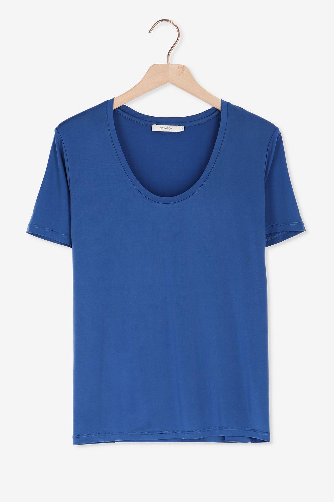 Blauw t-shirt cupro