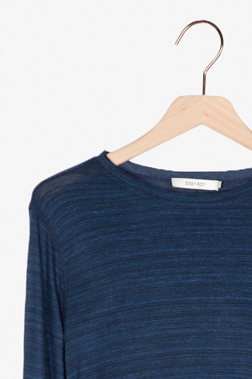 Donkerblauw t-shirt cupro