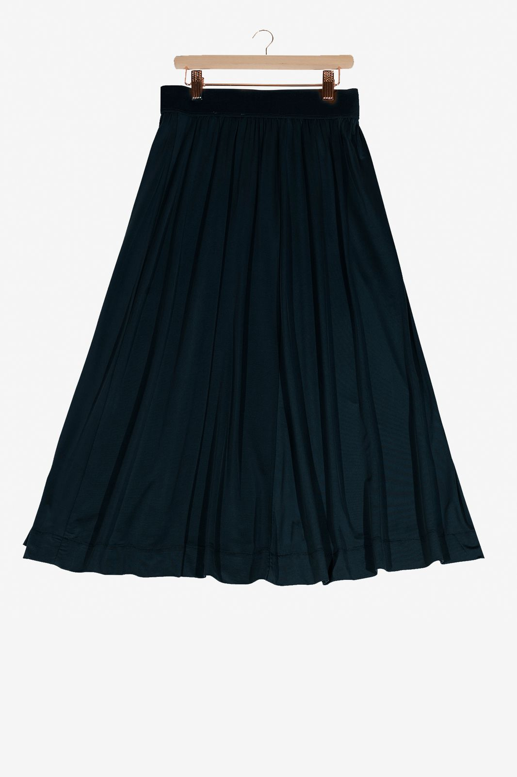 Donkerblauwe cupro rok