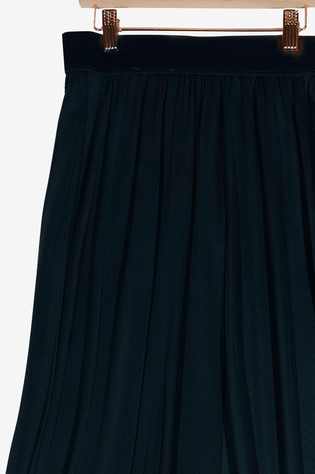 Donkerblauwe cupro rok - Dames | Sissy-Boy