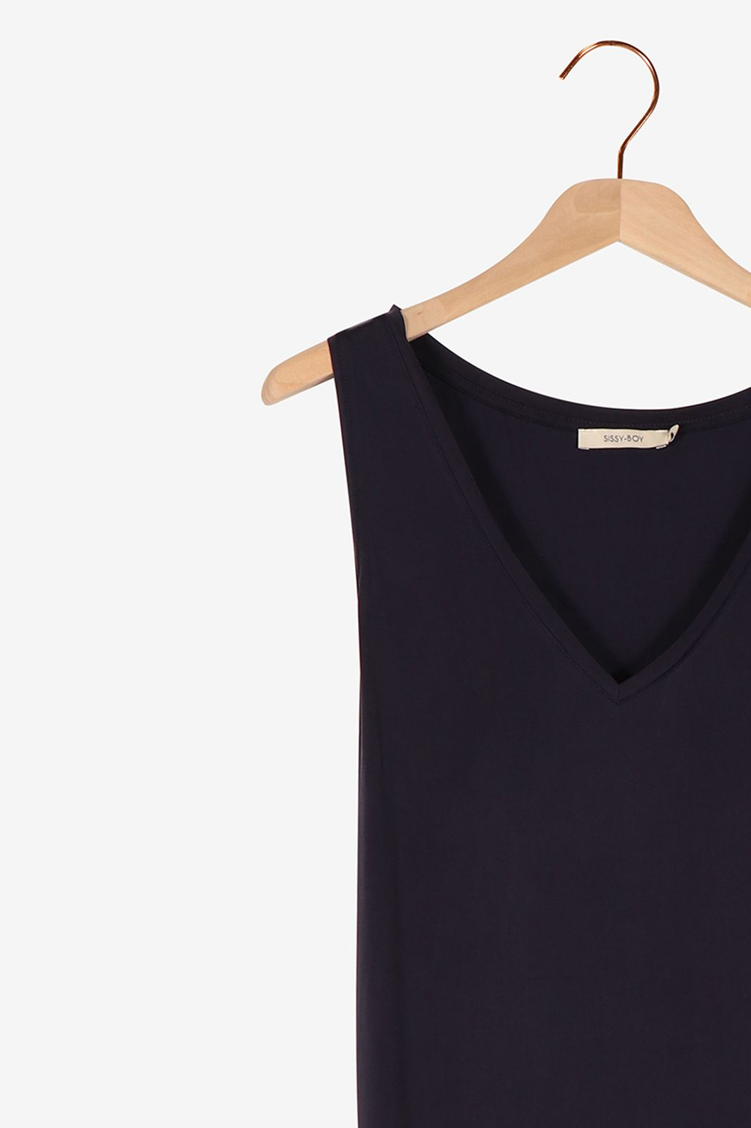 Donkerblauwe cupro jurk - Dames | Sissy-Boy