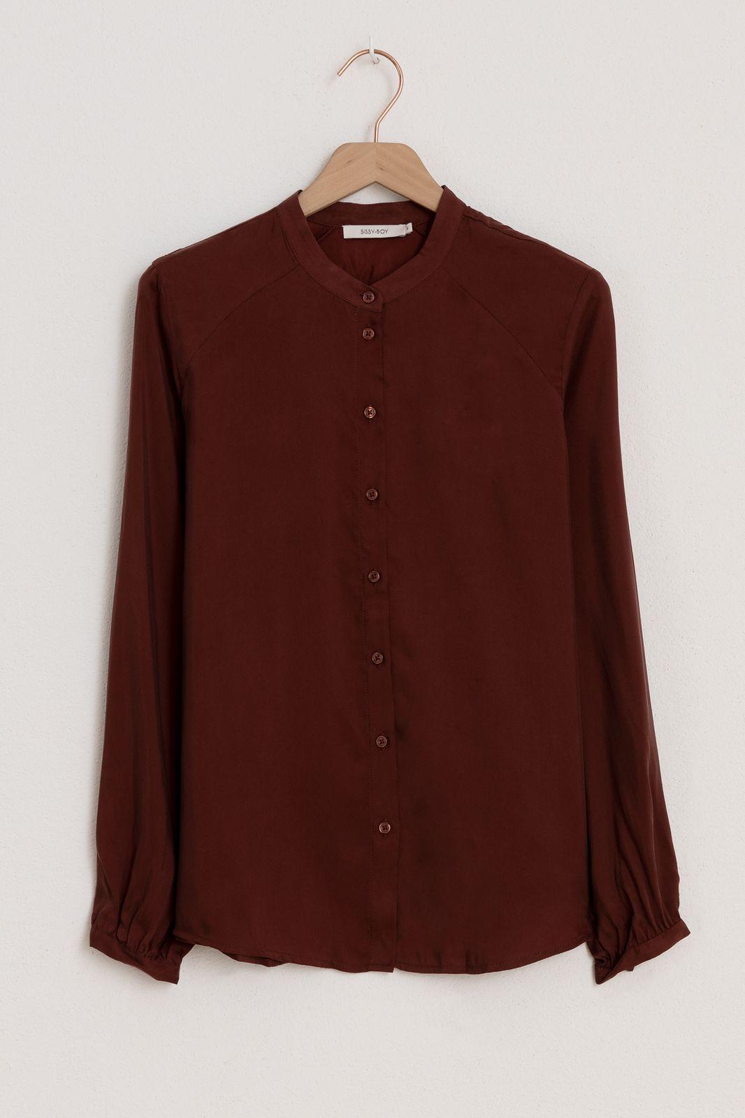 Donkerrode blouse - Dames   Sissy-Boy