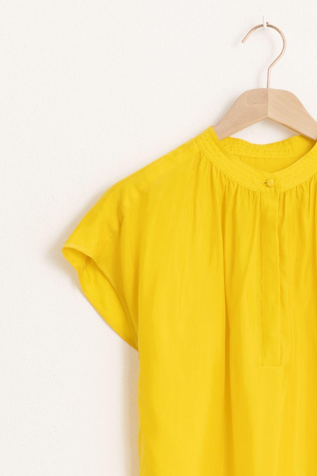 Gele cupro top - Dames | Sissy-Boy
