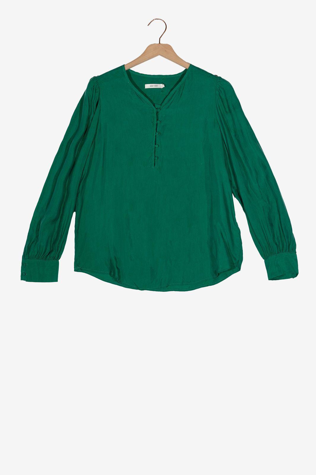 Groene cupro blouse - Dames   Sissy-Boy