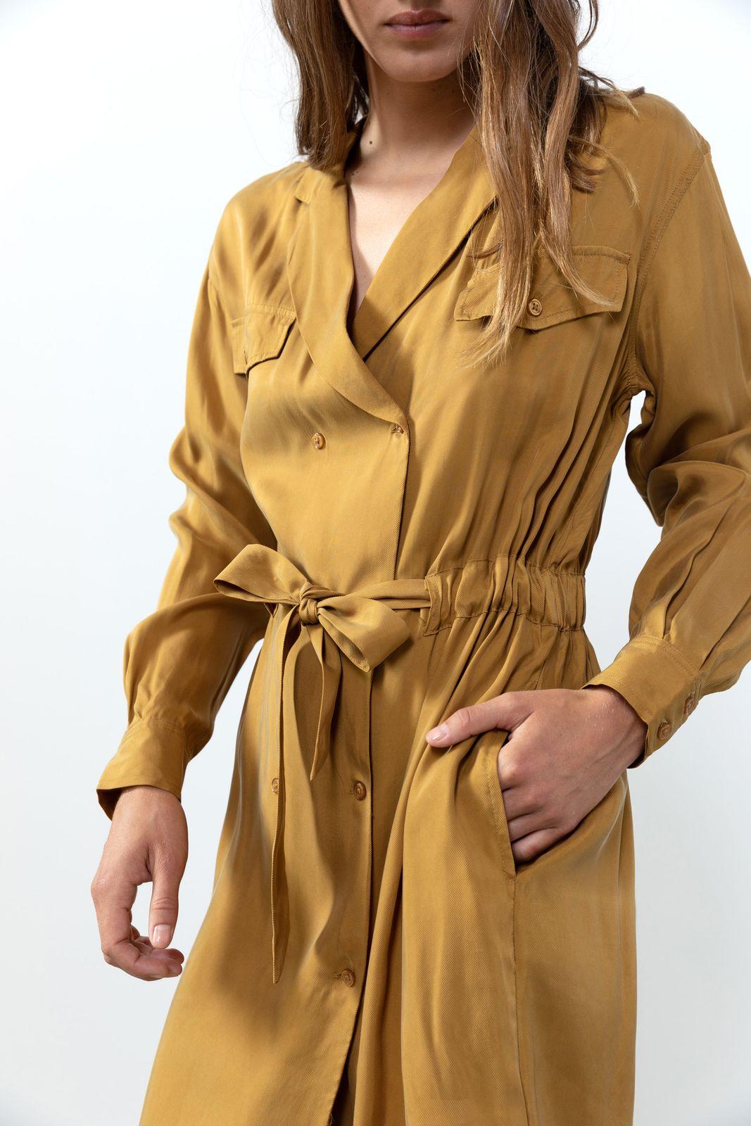 Groen/gele blazer jurk