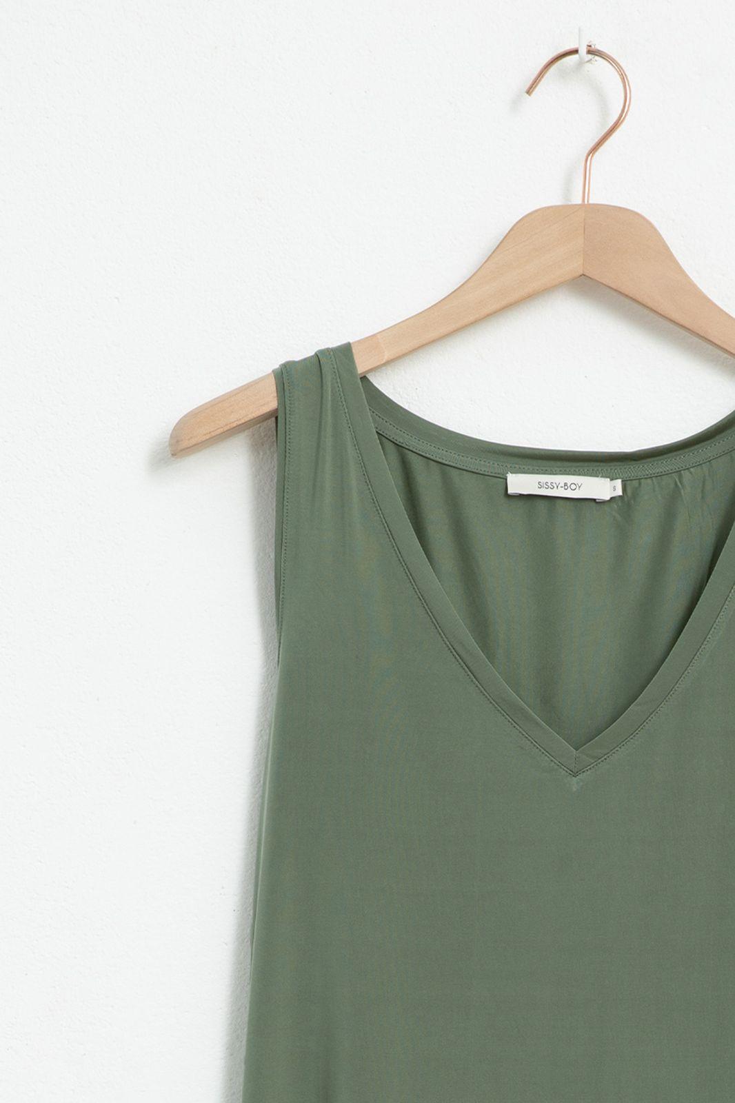 Groen cupro singlet - Dames | Sissy-Boy