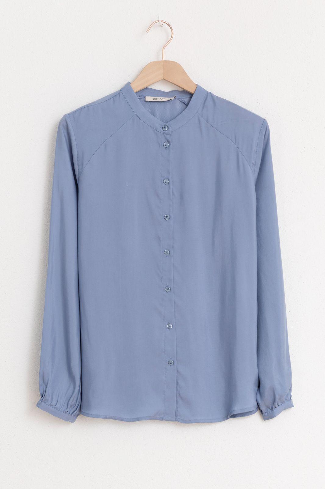 Lichtblauwe blouse cupro - Dames | Sissy-Boy