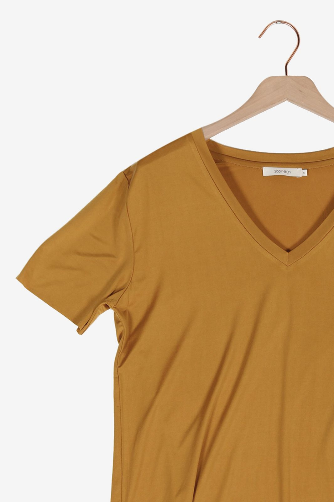 Basic okergeel t-shirt - Dames | Sissy-Boy