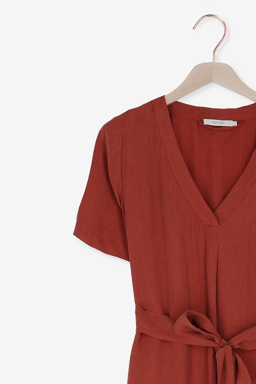Rode cupro jurk