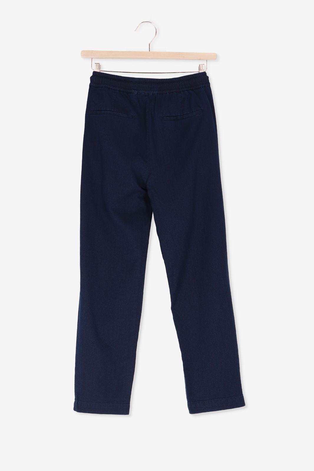 Blauwe broek met structuur - Dames | Sissy-Boy