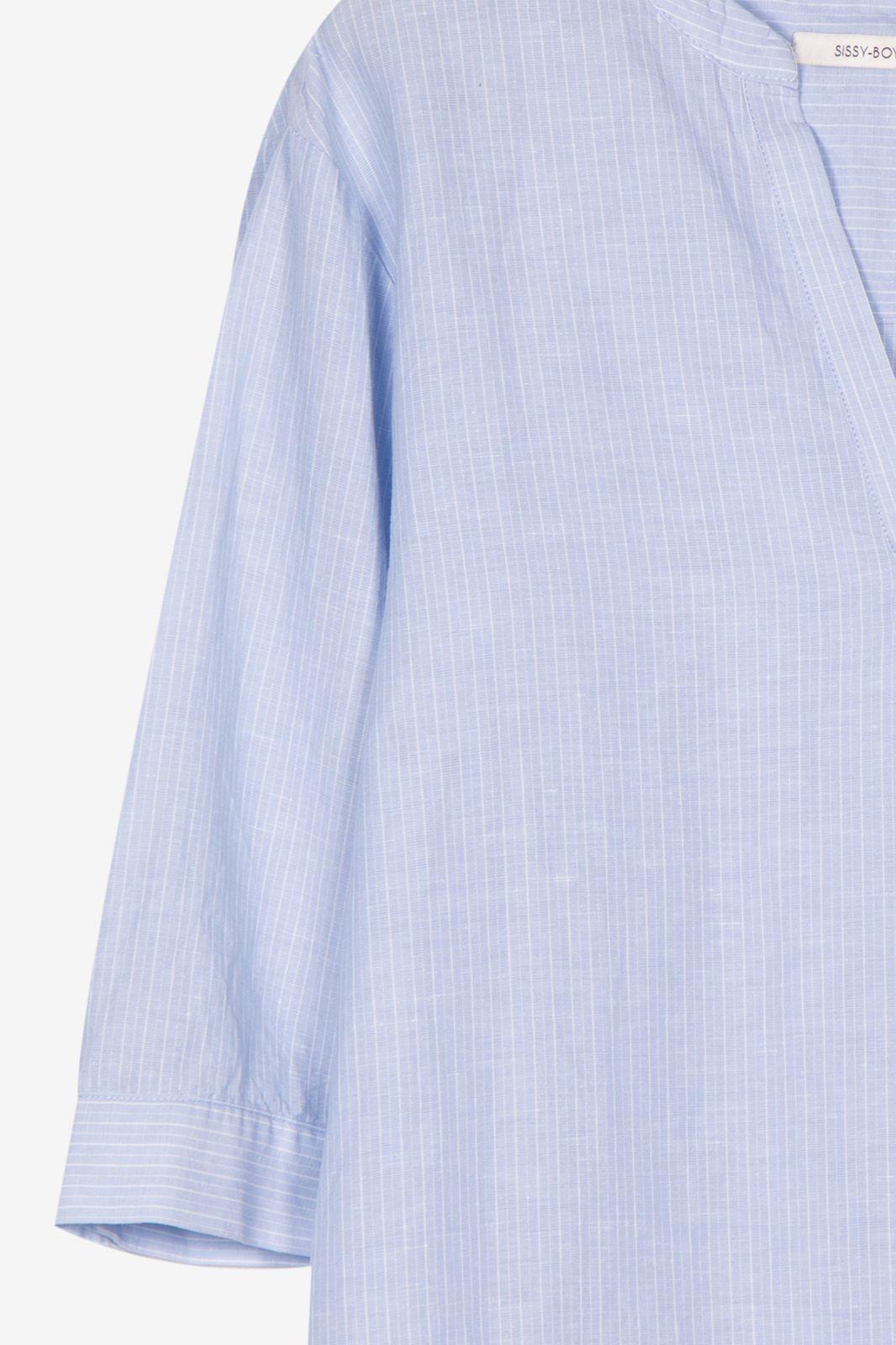 Blauwe gestreepte top met V-hals - Dames | Sissy-Boy