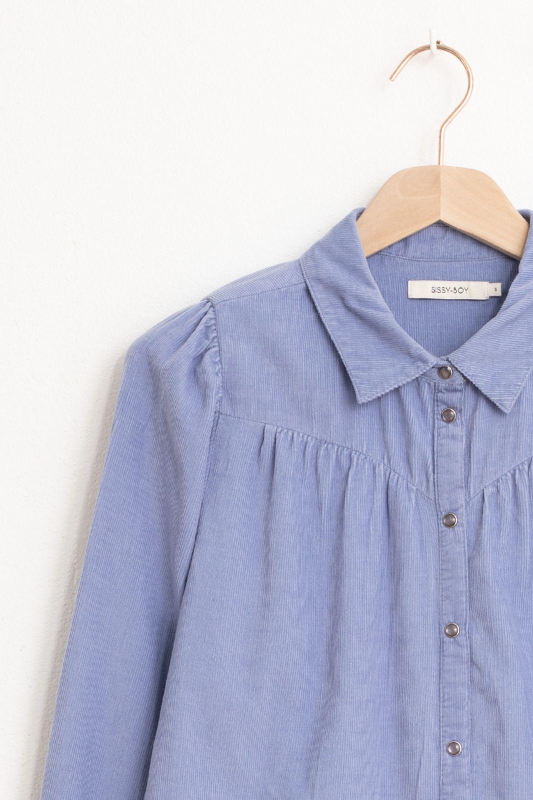 Lichtblauwe corduroy blouse - Dames | Sissy-Boy