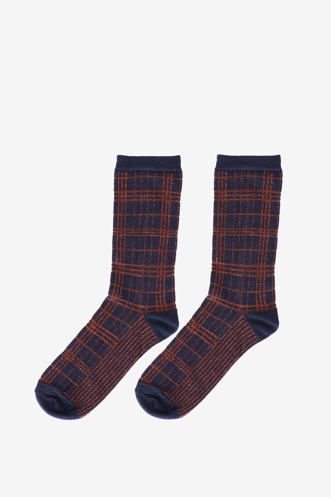 Blauwe sokken met lurex details - Dames | Sissy-Boy