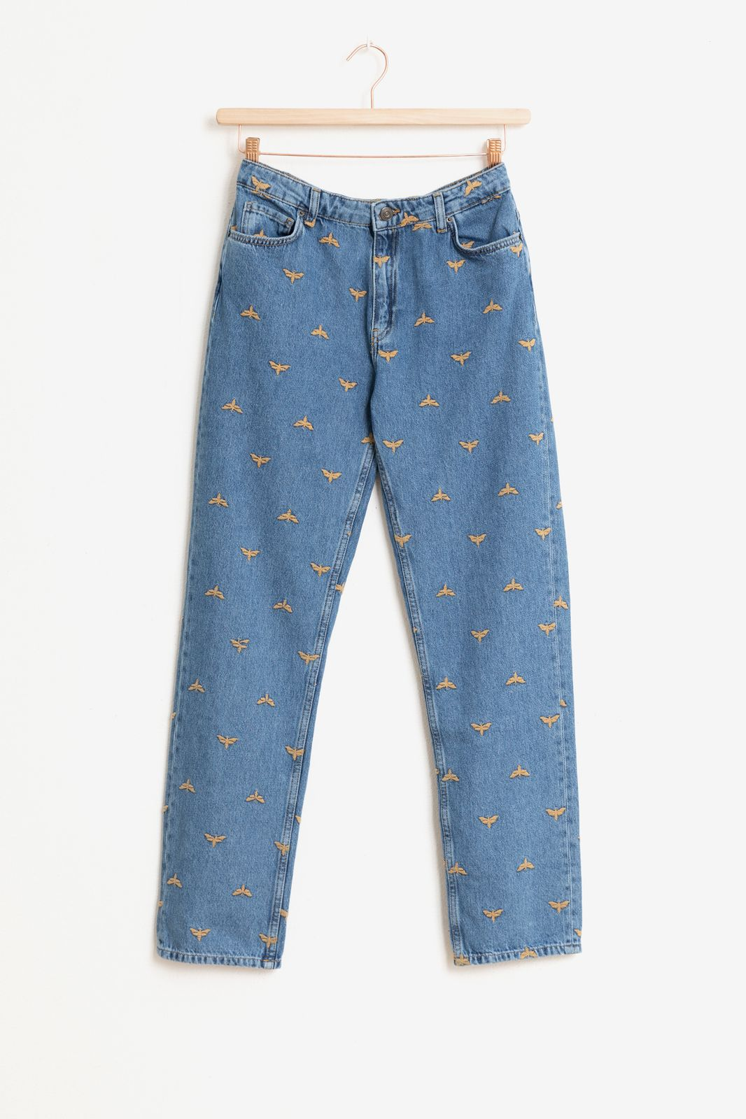 Blauwe jeans met all over embroidery - Dames   Sissy-Boy