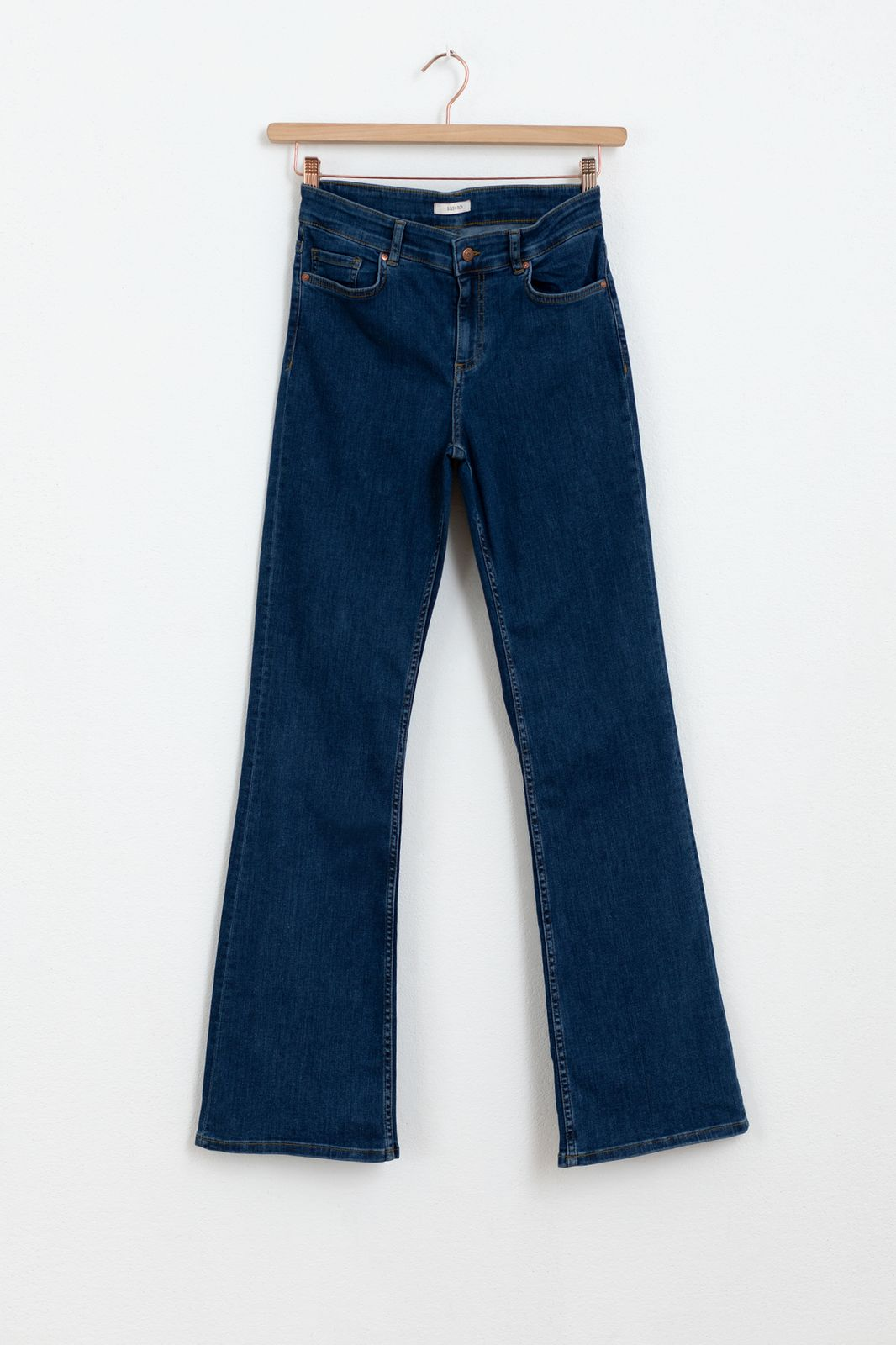 Donkerblauwe 5-pocket bootcut jeans - Dames | Sissy-Boy
