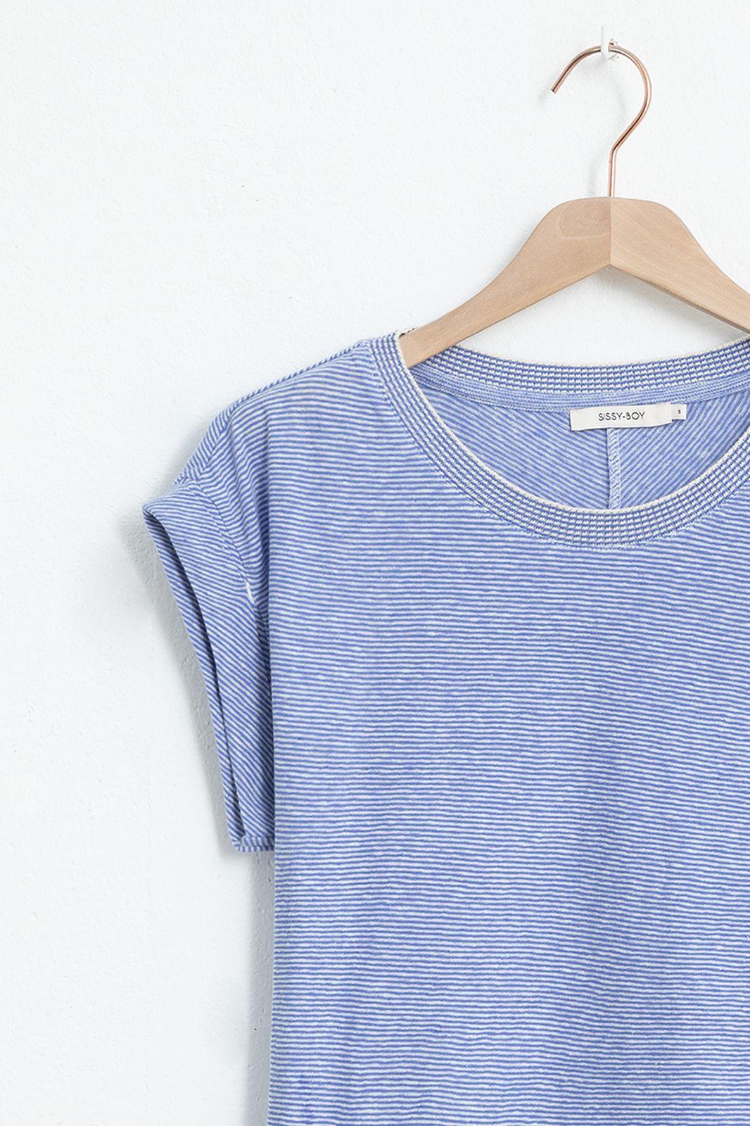 Blauw t-shirt gestreept - Dames | Sissy-Boy