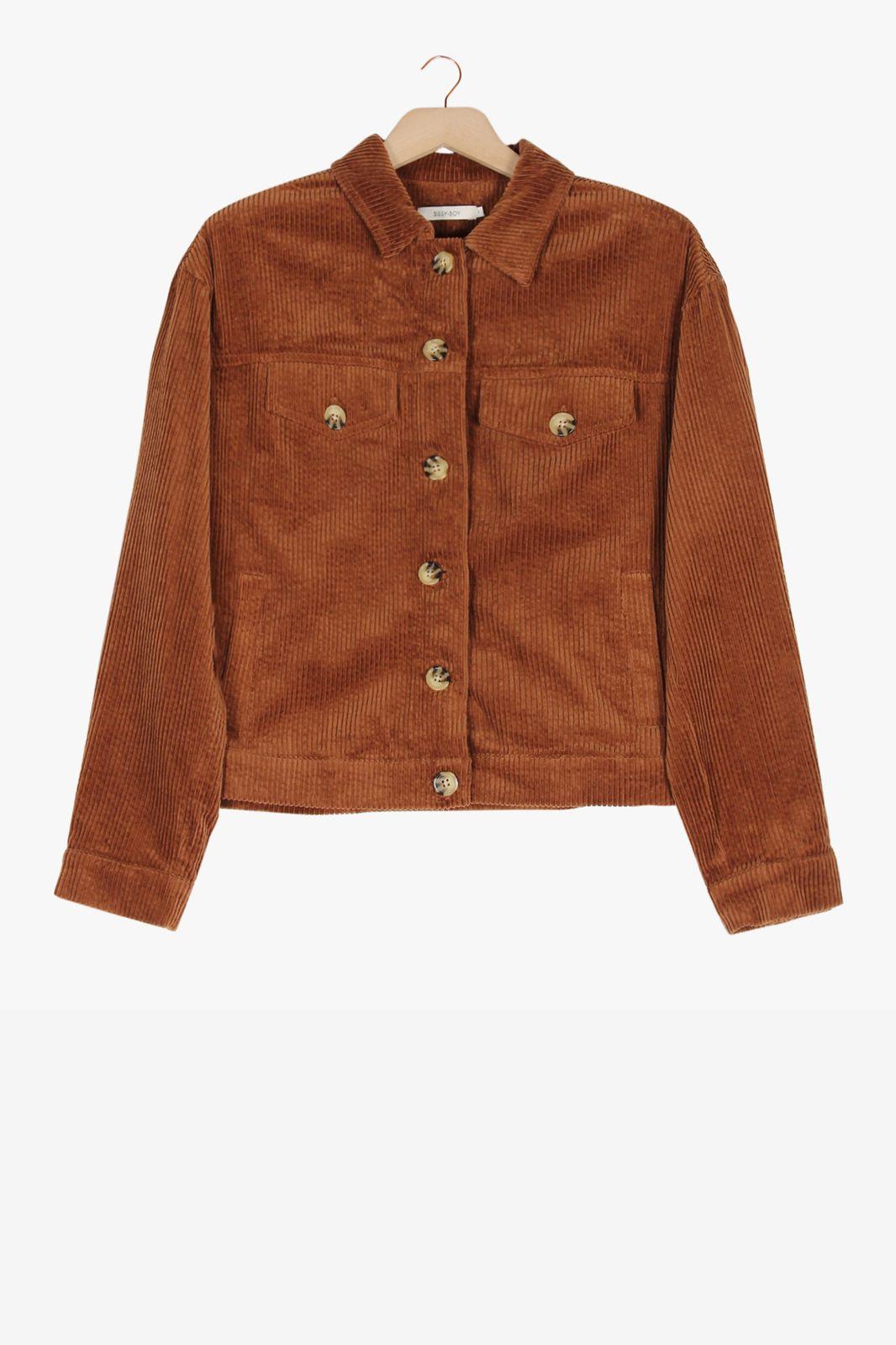 Bruin corduroy jasje - Dames | Sissy-Boy