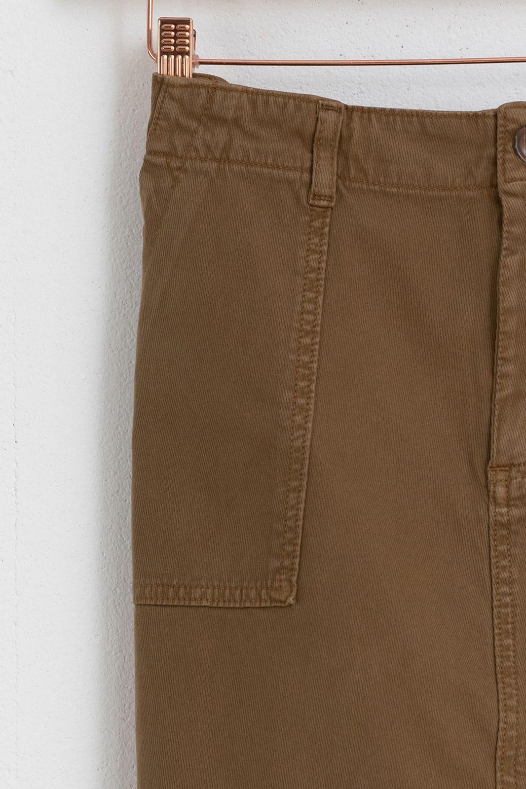 Khaki rok met zakken