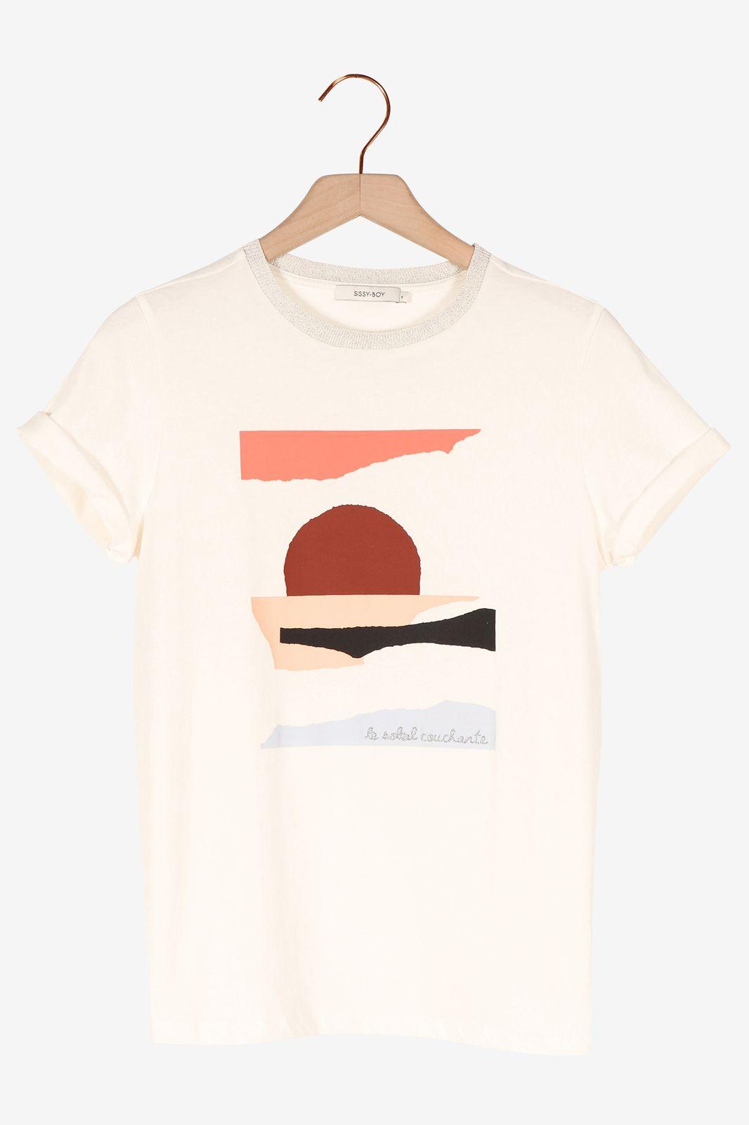 Wit t-shirt met artwork