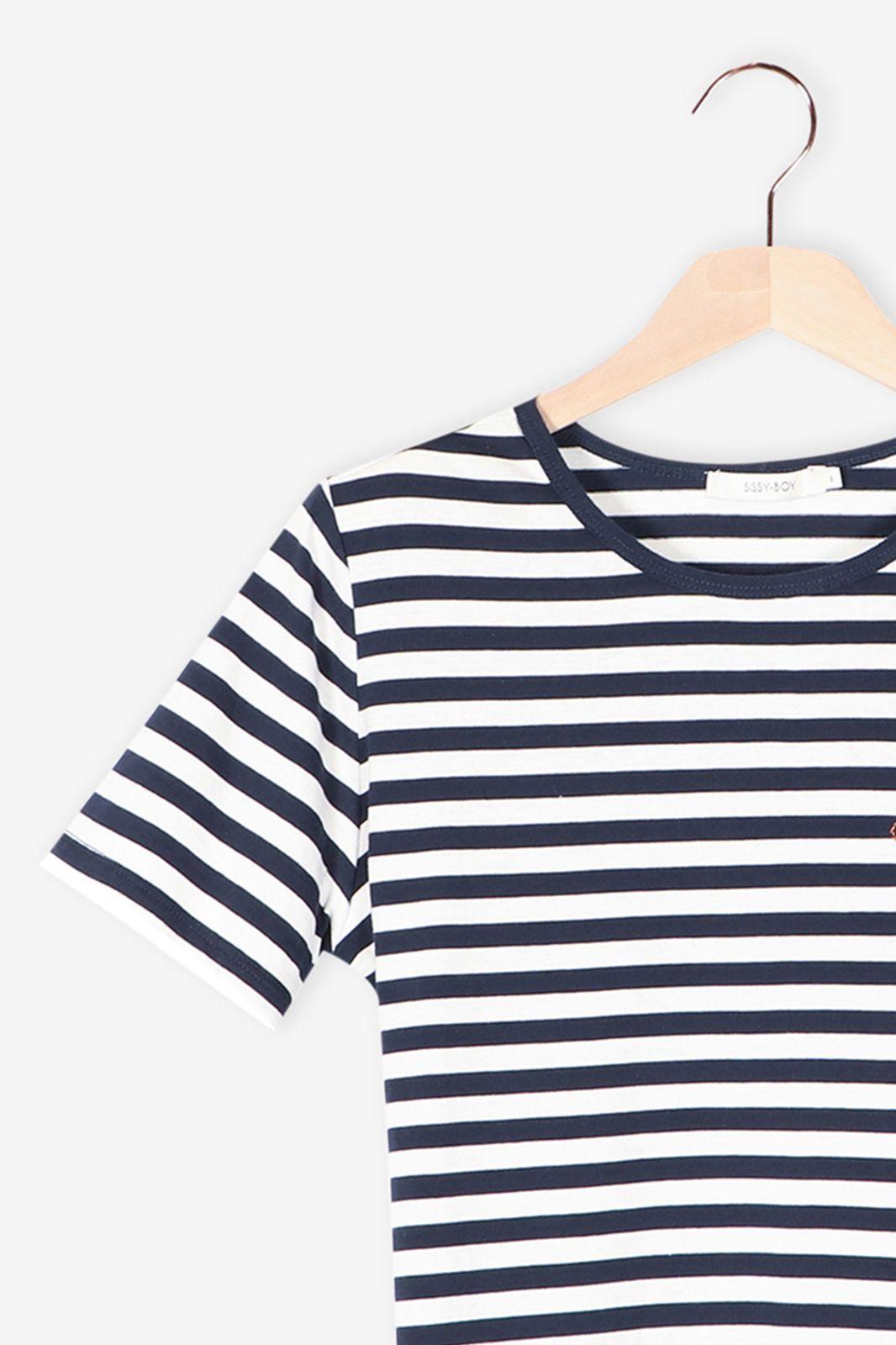 T-shirt gestreept blauw - Dames   Sissy-Boy