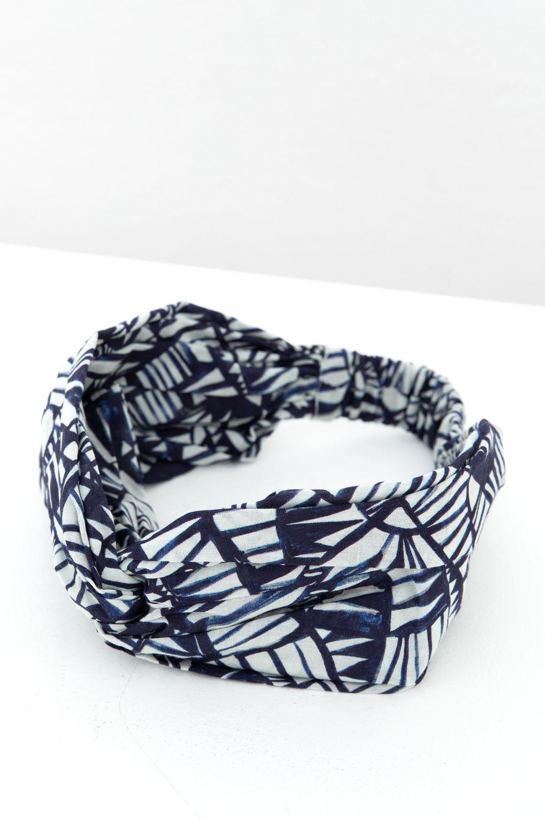 Donkerblauwe haarband met all over print - Dames | Sissy-Boy